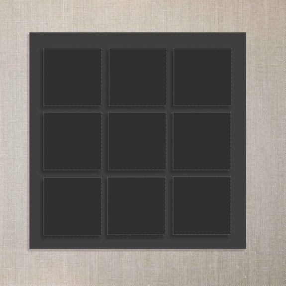Rahmen 9 Fotos schwarz scaled