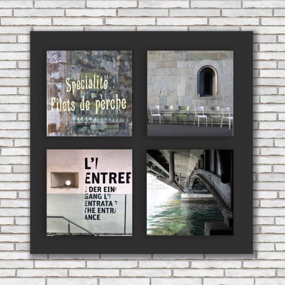 Wandbild Schweiz mit 4 Fotos