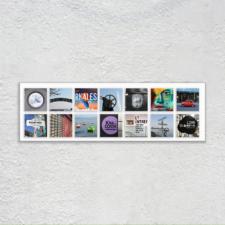 Wandbild mit Fotos aus Städten Europas